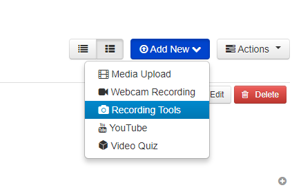 Add New > Recording Tools