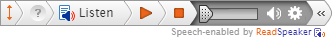 ReadSpeaker Toolbar Fully Expanded